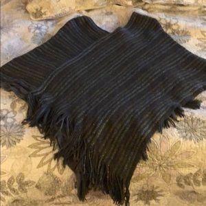 Jackets & Blazers - Reversible Knit Poncho